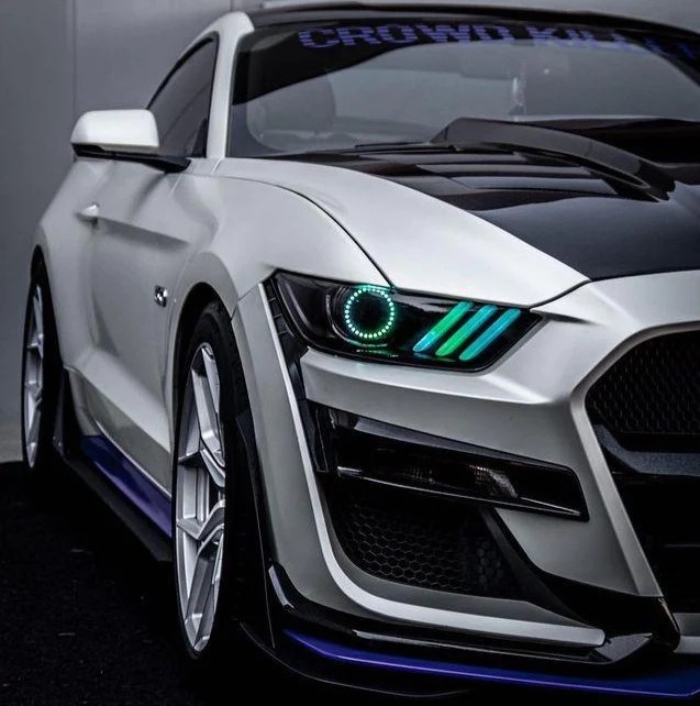 Time to catch the 302, and we're not talking amtrak. 2015 2020 Ford Mustang S550 Rgbw Color Chasing Led Drl Halo Prebuilt H Autoledtech Com