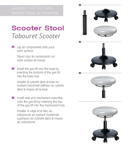 Tabouret Scooter Ergocentric Solutions M3
