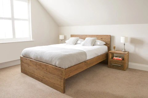 rustic solid wood bed frames