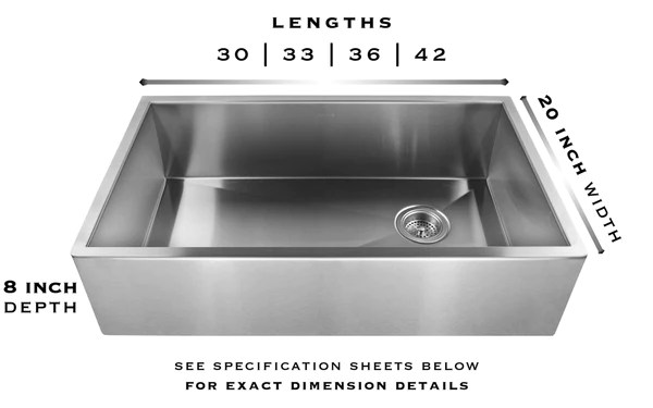 heritage farmhouse sink brushed stainless