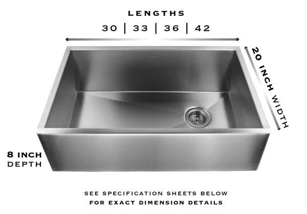 heritage stainless steel farm sink