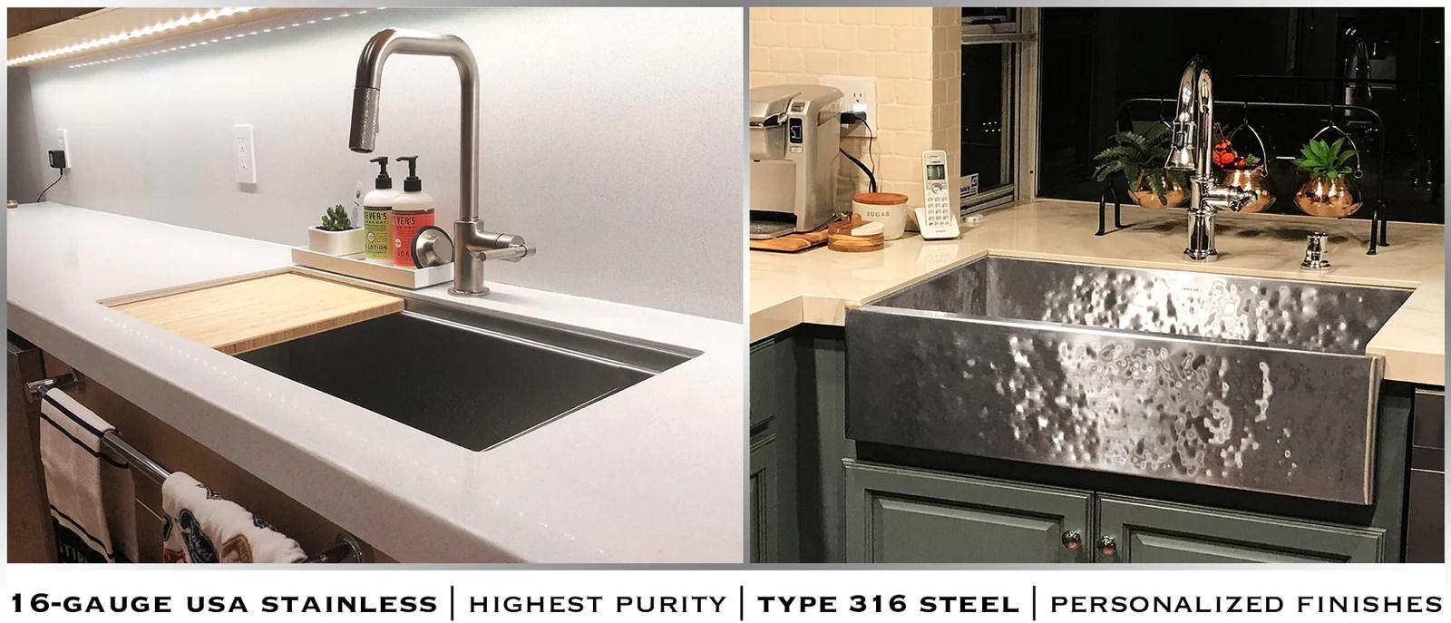 undermount stainless steel sinks usa