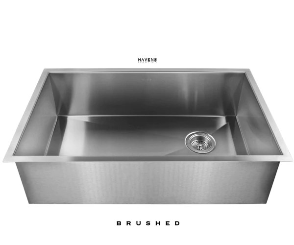 heritage undermount sink brushed stainless