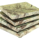 Square Rainforest Green Marble Coasters Bison Hill Stonecrafts