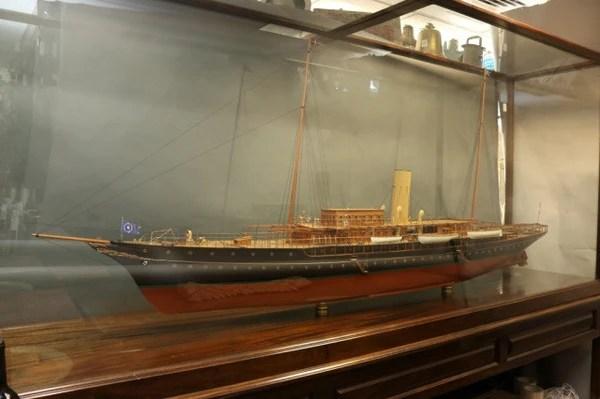 8 Foot Model Of JP Morgans Corsair IV Lannan Gallery
