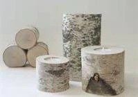 Birch Candle Stands