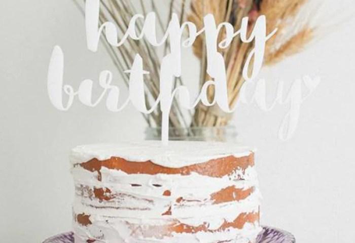 Happy Birthday Cake Topper Baby Shower Cake Topper Wedding Cake