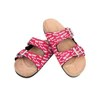 Ohio State Buckeyes NCAA Womens Mini Print Double Buckle Sandal