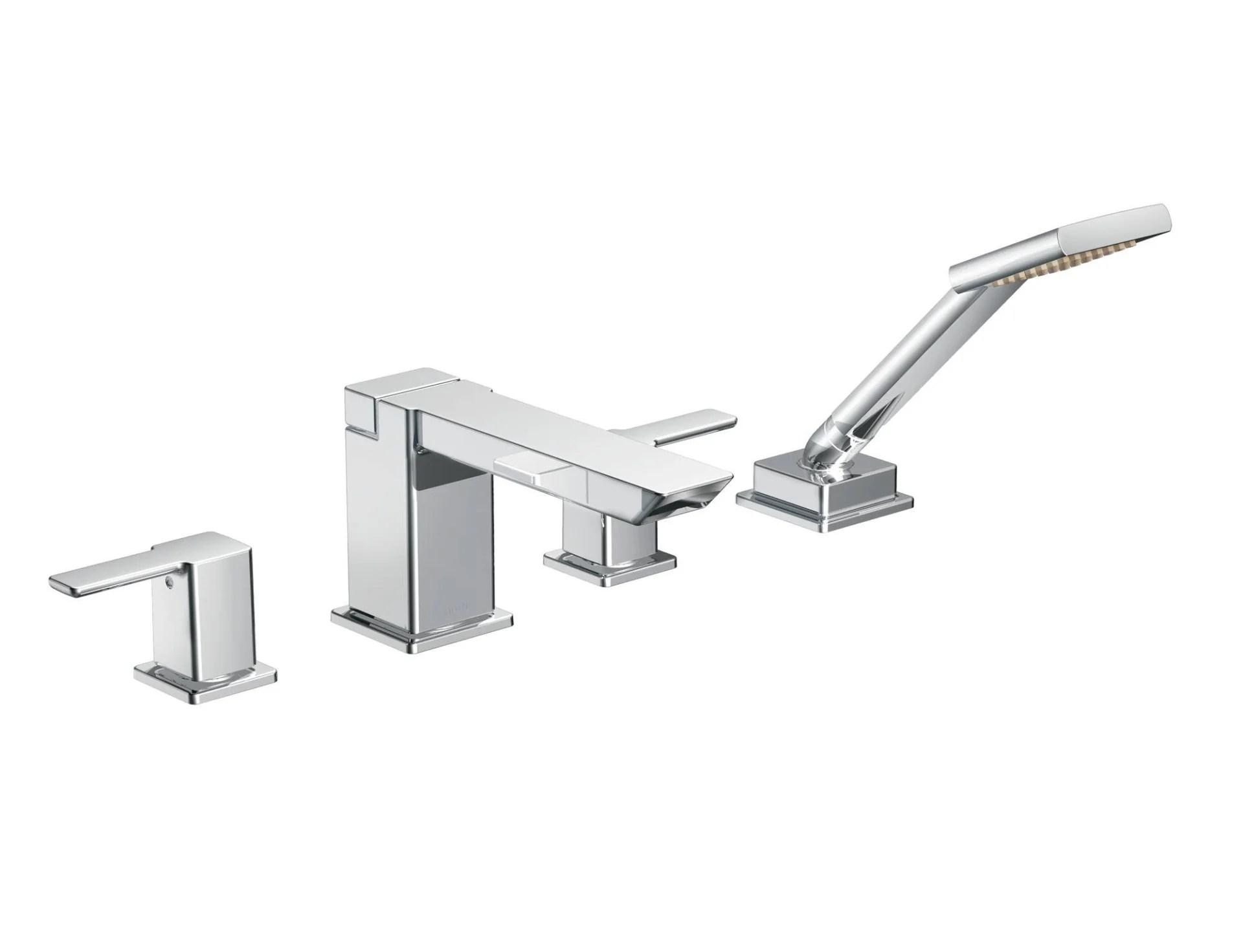 90 Degree Moen Tub Faucet Handheld Shower Pace