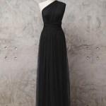 Zizway Black Two Piece Tulle Convertible Dress Floor Length