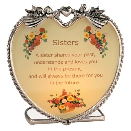 Sisters Candle Holder With Touching Poem Relevant Gifts