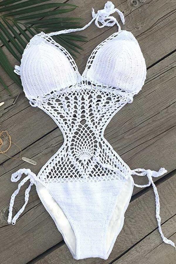 Floralkini Envy Crochet Hater Neck Monokini