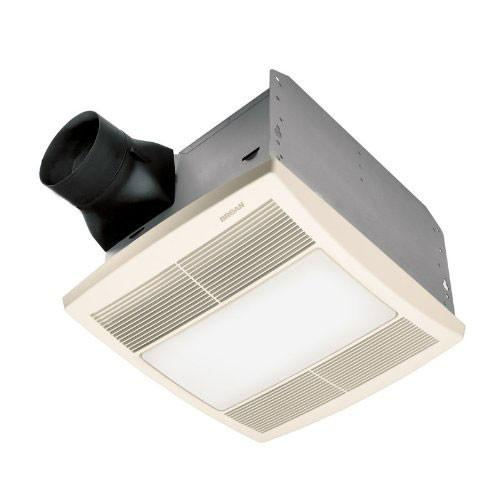 broan qtr110l white ultra silent bath exhaust fan with light and nightlight