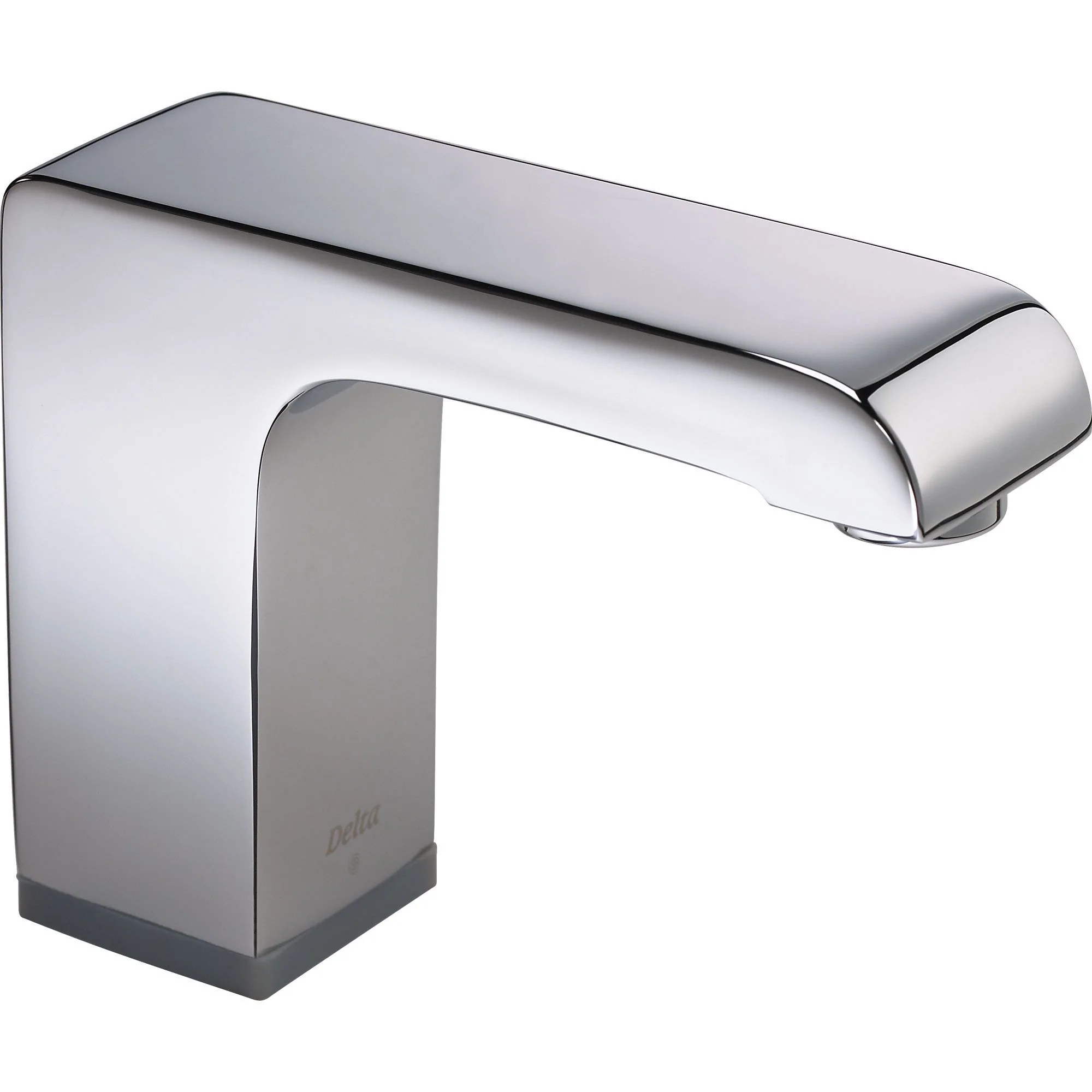 delta commercial hardwired touchless lavatory faucet in chrome 513630