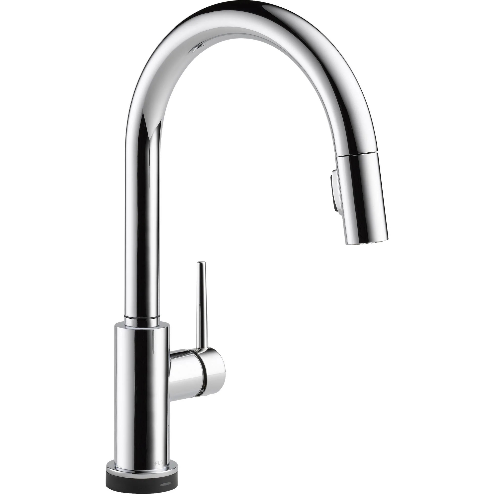 delta trinsic touch2o chrome single handle pull down spray kitchen faucet 556054
