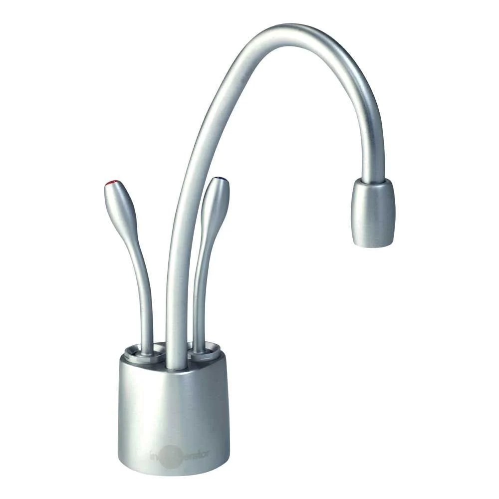 insinkerator indulge contemporary brushed chrome instant hot cool water dispenser faucet only 540901