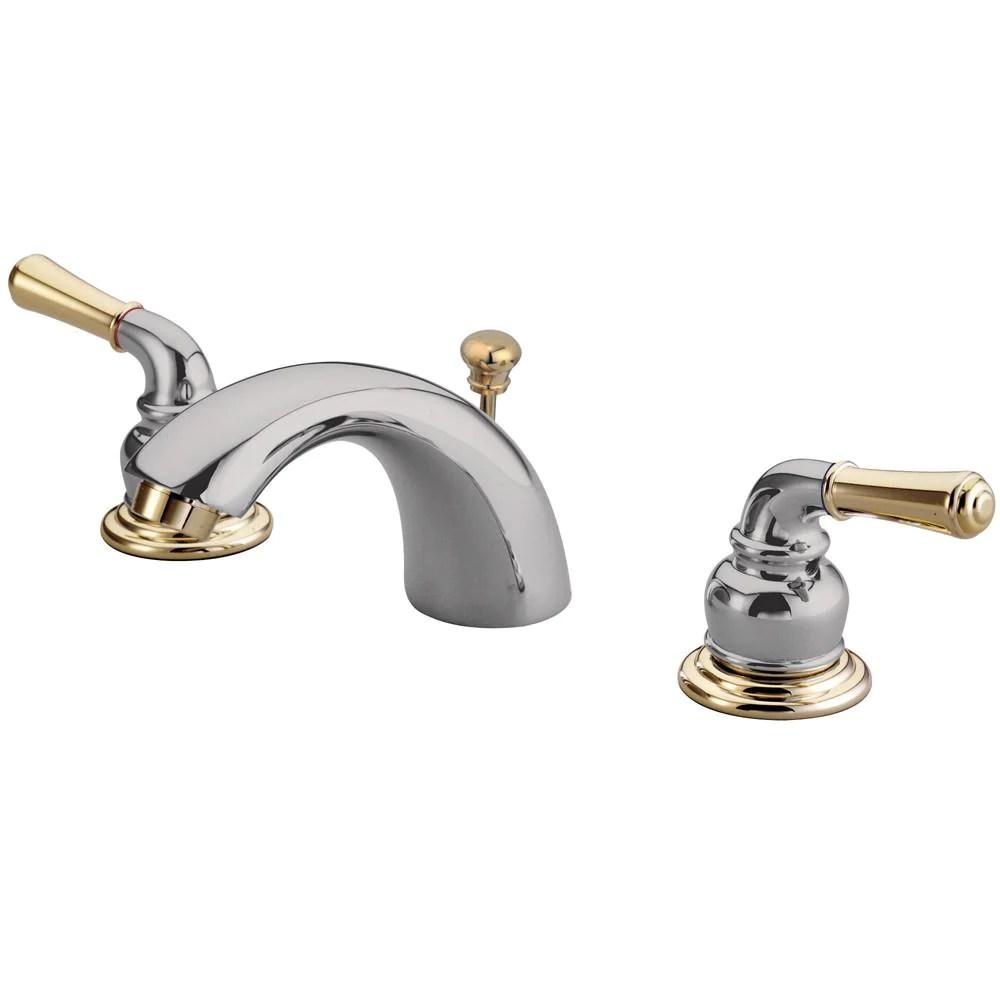 kingston brass chrome polished brass 4 8 mini widespread bathroom faucet kb954