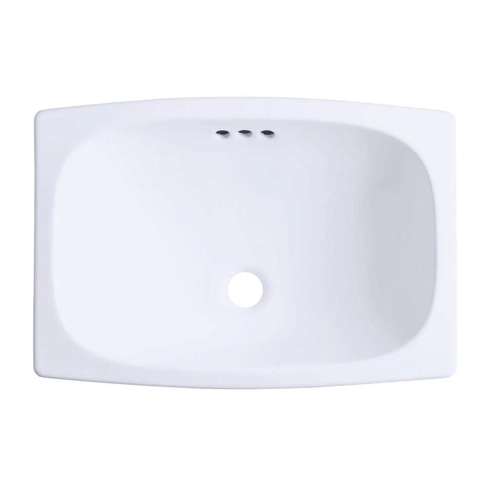 sterling stinson drop in bathroom sink in white 663167