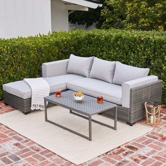 Royal Garden | Modern Living 3-Piece Outdoor Sectional ... on Outdoor Living Wicker  id=35674