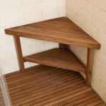 30 X 22 Deluxe Teak Corner Shower Bench Teakworks4u