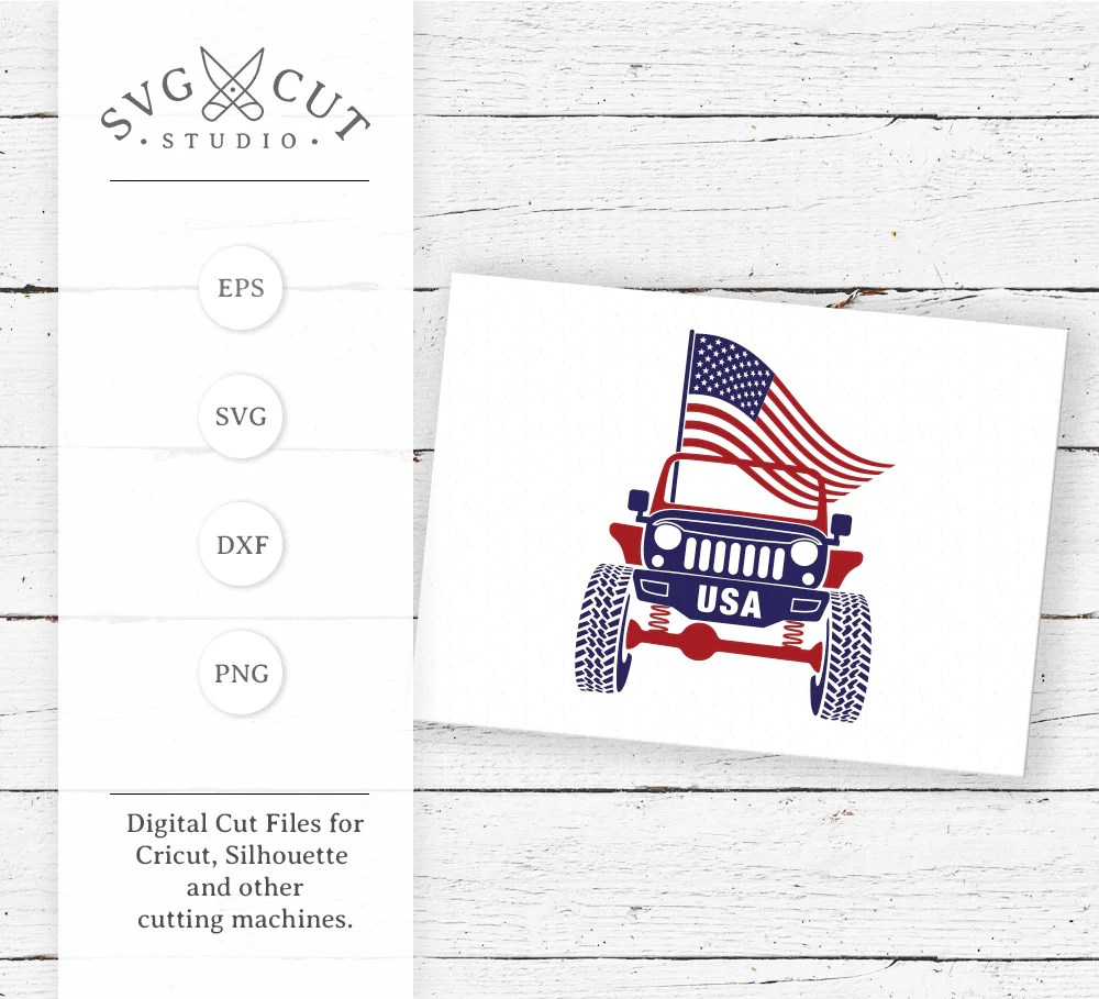 Download 4th of July Jeep SVG files for Cricut and Silhouette - SVG ...