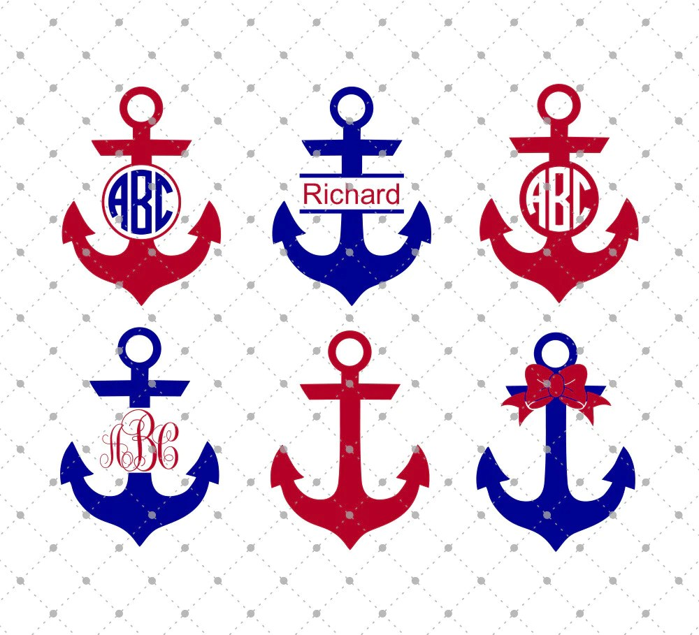 Download SVG Cut Files for Cricut and Silhouette - Anchor Monogram ...