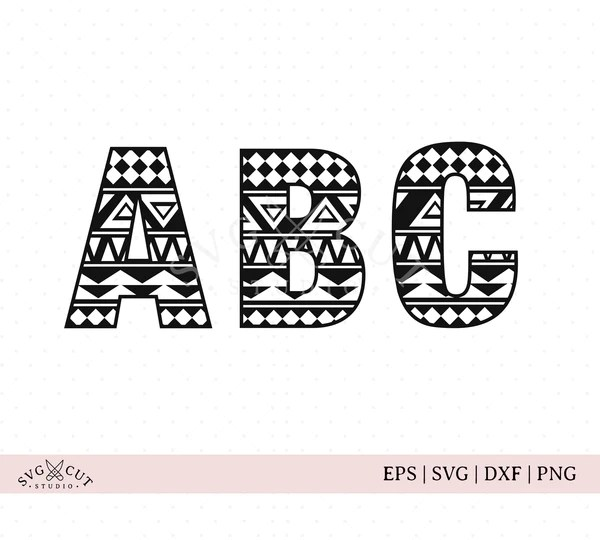Download SVG Cut Files for Cricut and Silhouette - Aztec Pattern ...