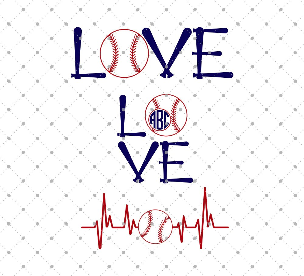 Download SVG Cut Files for Cricut and Silhouette - Baseball Love ...