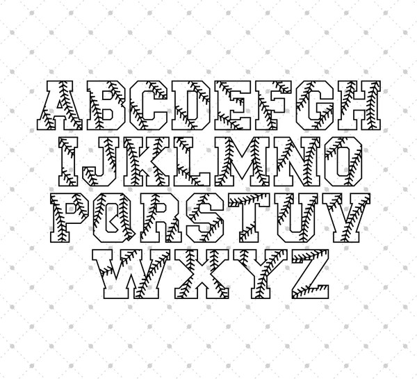 Download Installable Baseball Stitches Font - .otf and .ttf format ...