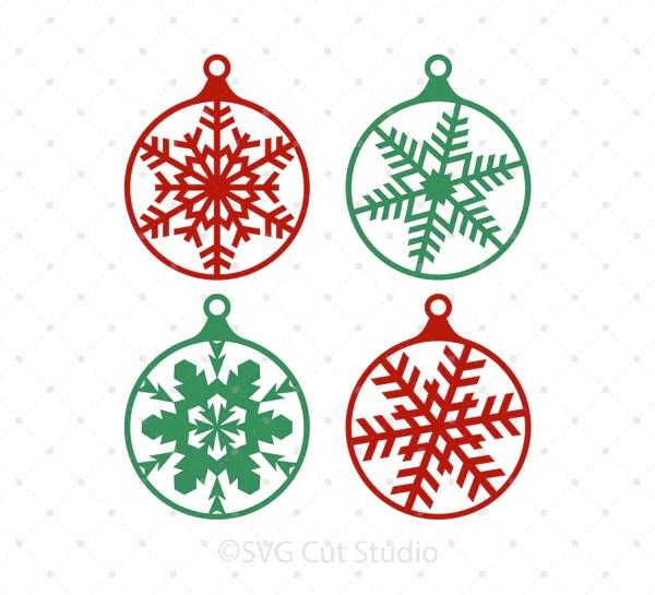 Download Christmas Tree Snowflake Balls SVG Cut files for Cricut ...