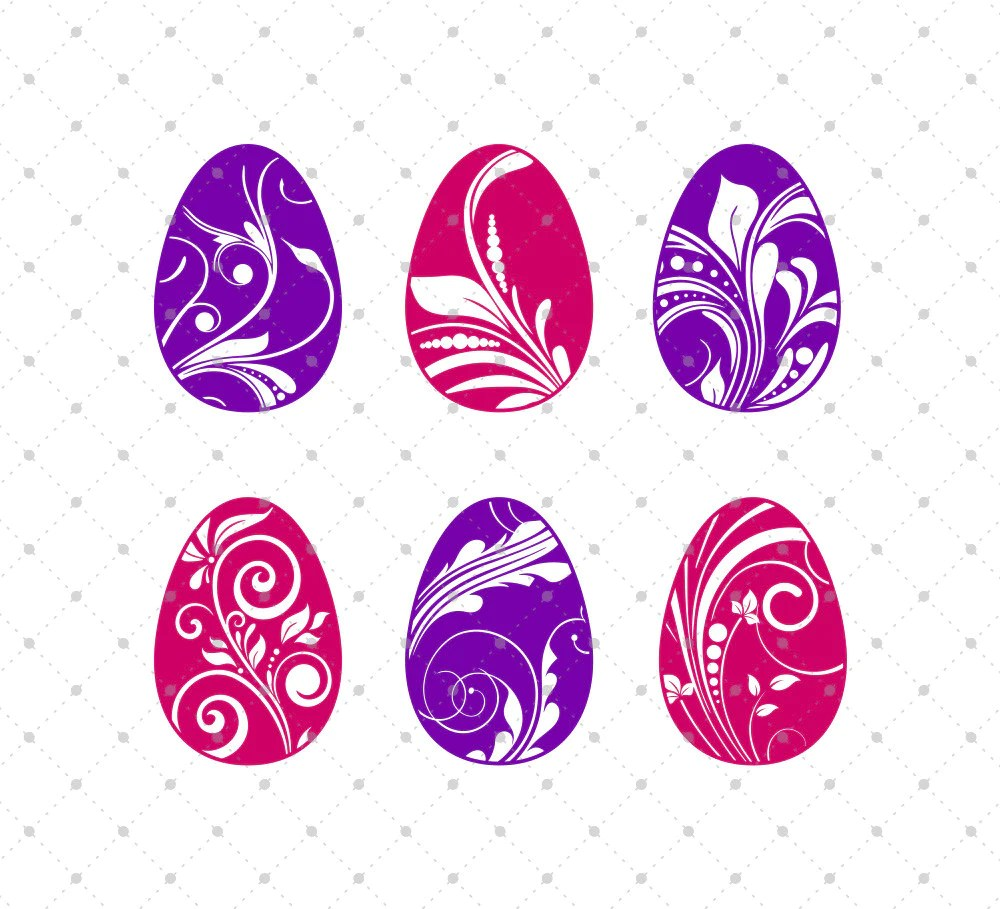 Download SVG Cut Files for Cricut and Silhouette - Easter Eggs ...