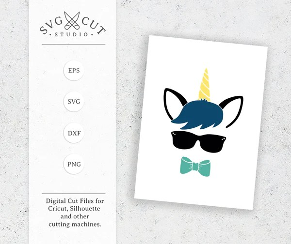 Unicorn Boy SVG Cut Files For Cricut And Silhouette SVG