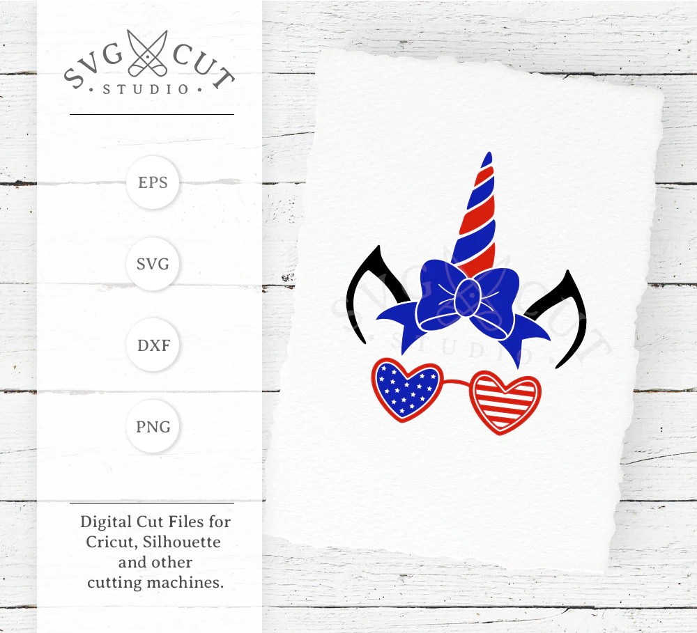 Download 4th of July Unicorn SVG Files for Cricut and Silhouette ...