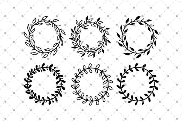 SVG Cut Files For Cricut And Silhouette Wreath SVG Cut