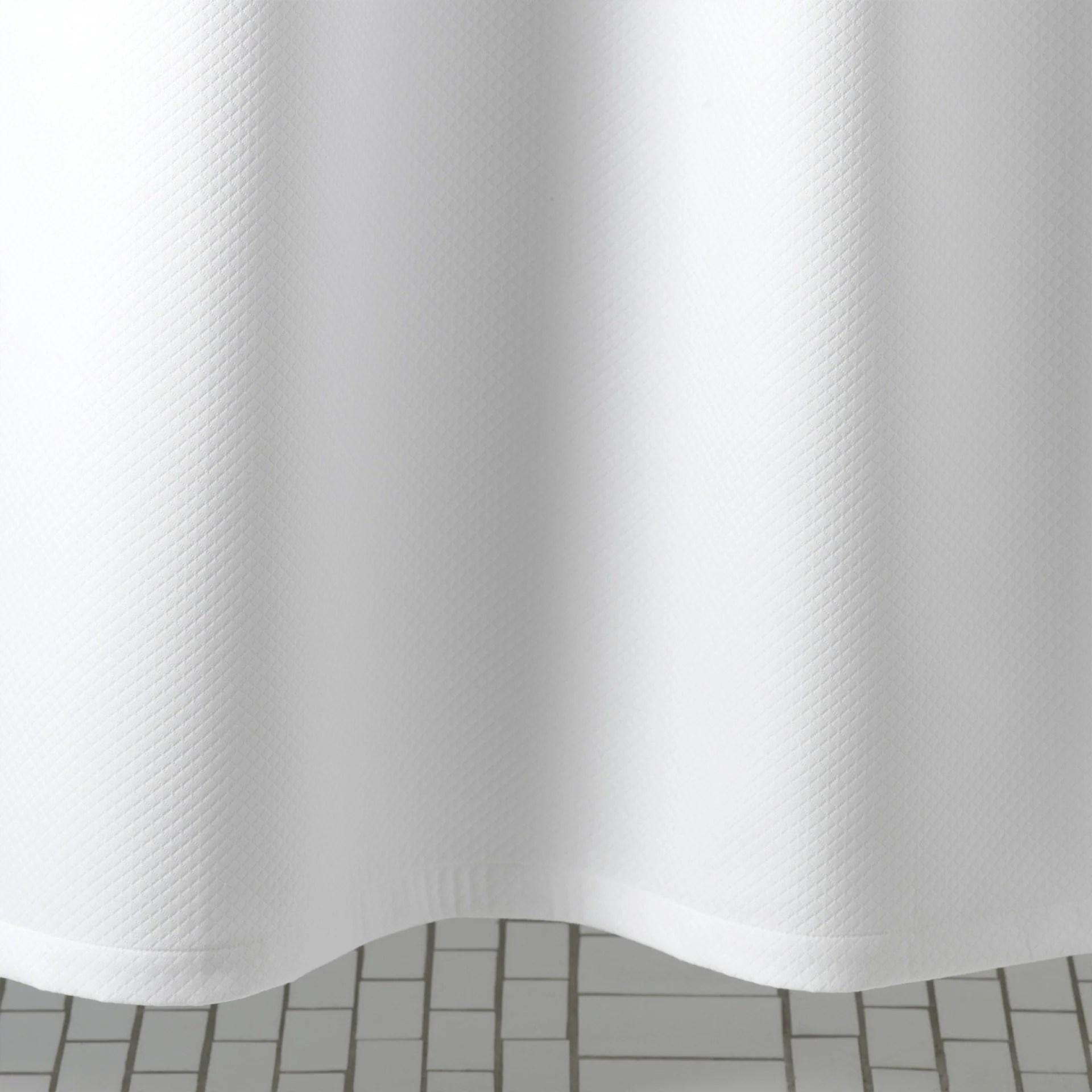 diamond pique shower curtain