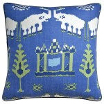 Kingdom Parade Blue And Green Throw Pillow Ryan Studio