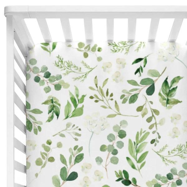Leafy Greenery Natural Crib Bedding Caden Lane