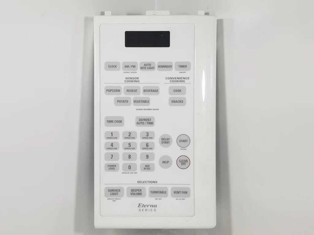 ge microwave control panel de41 00081a wb27x10508