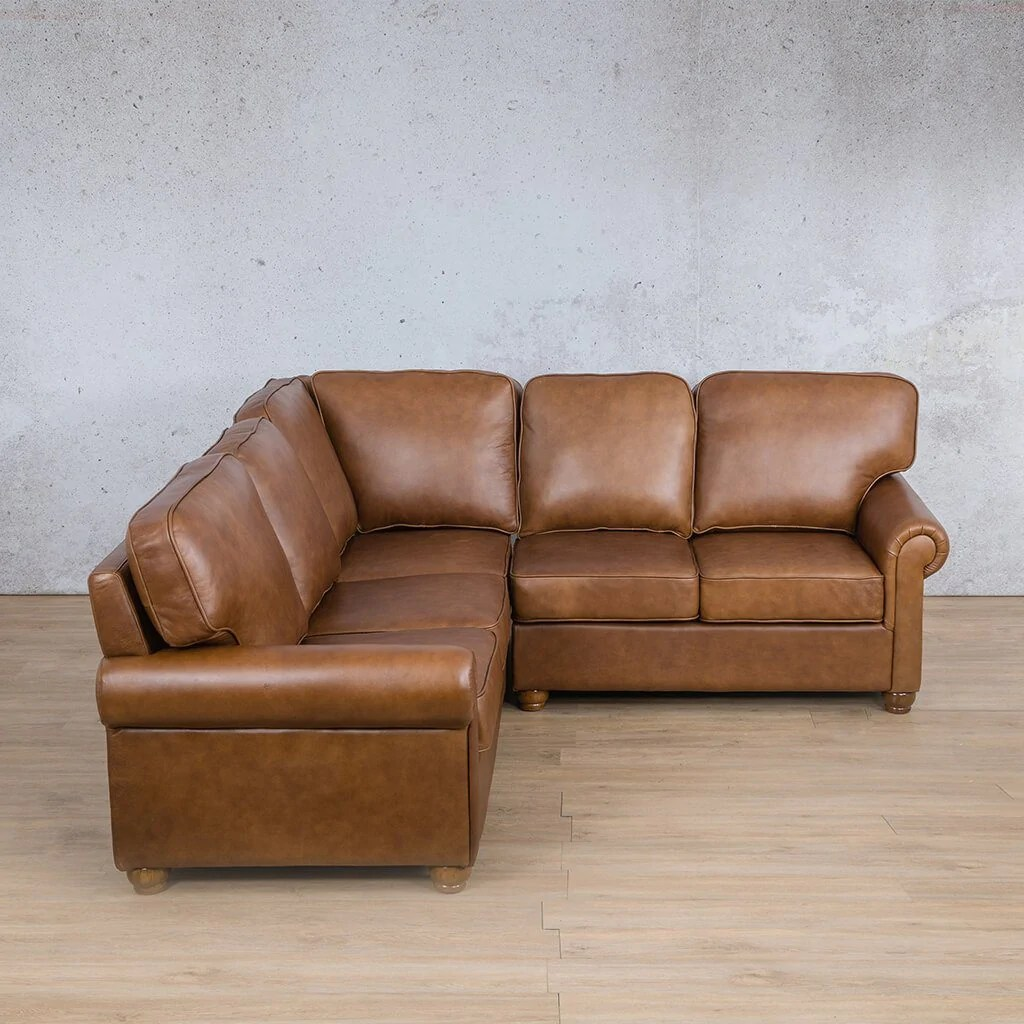 salisbury leather l sectional 5 seater