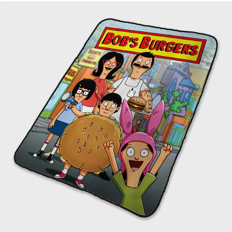 bob s burgers poster fleece blanket