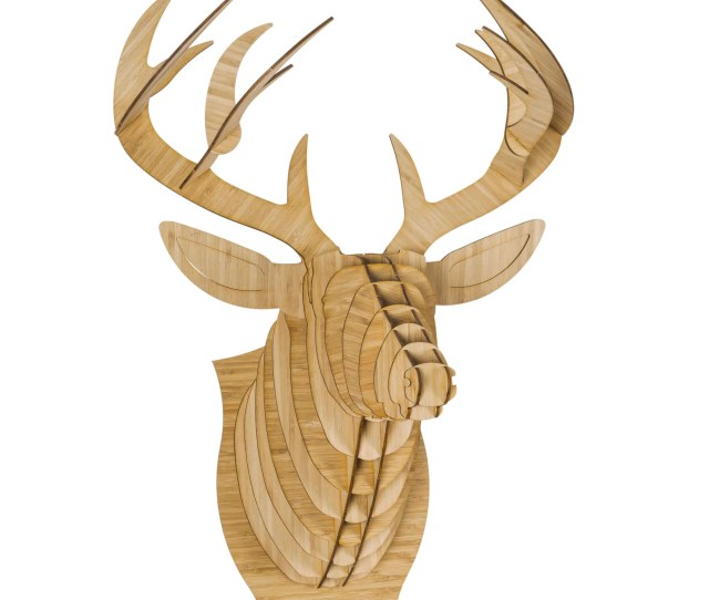 Bucky Bamboo Wood Deer Head