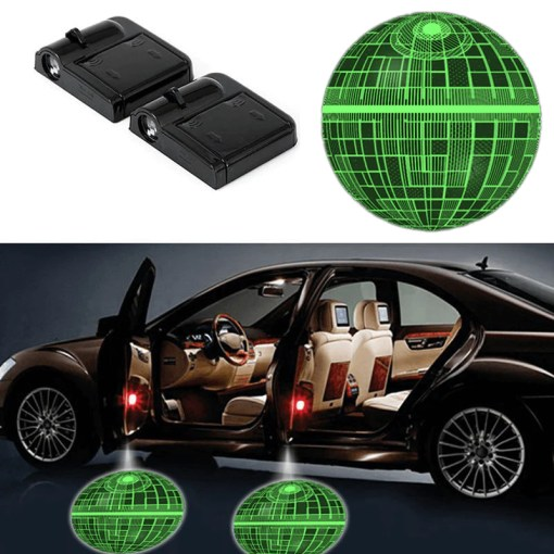 Car Accessories   www gobazzola com 2 STAR WARS DEATH STAR WIRELESS LED CAR DOOR PROJECTORS