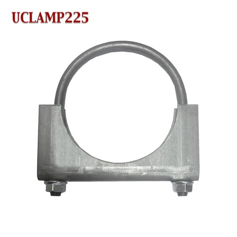 2 1 4 exhaust clamp u bolt muffler saddle style for 2 25 pipe 5 16 rod