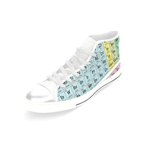 Periodic table tennis shoes periodic diagrams science periodic table high top canvas women s shoes absoluteawesomestuff urtaz Gallery