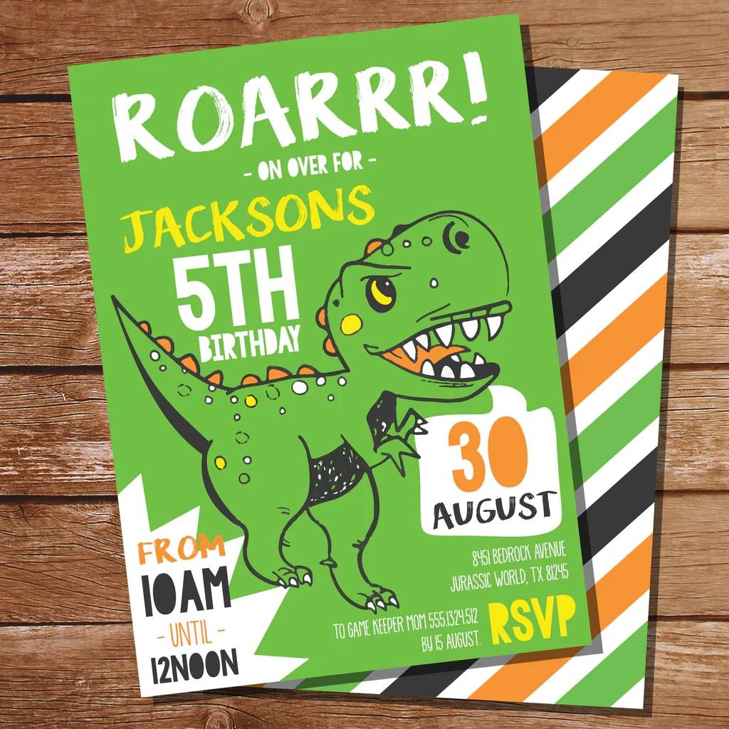 dinosaur birthday invitation free template ppt premium download 2020