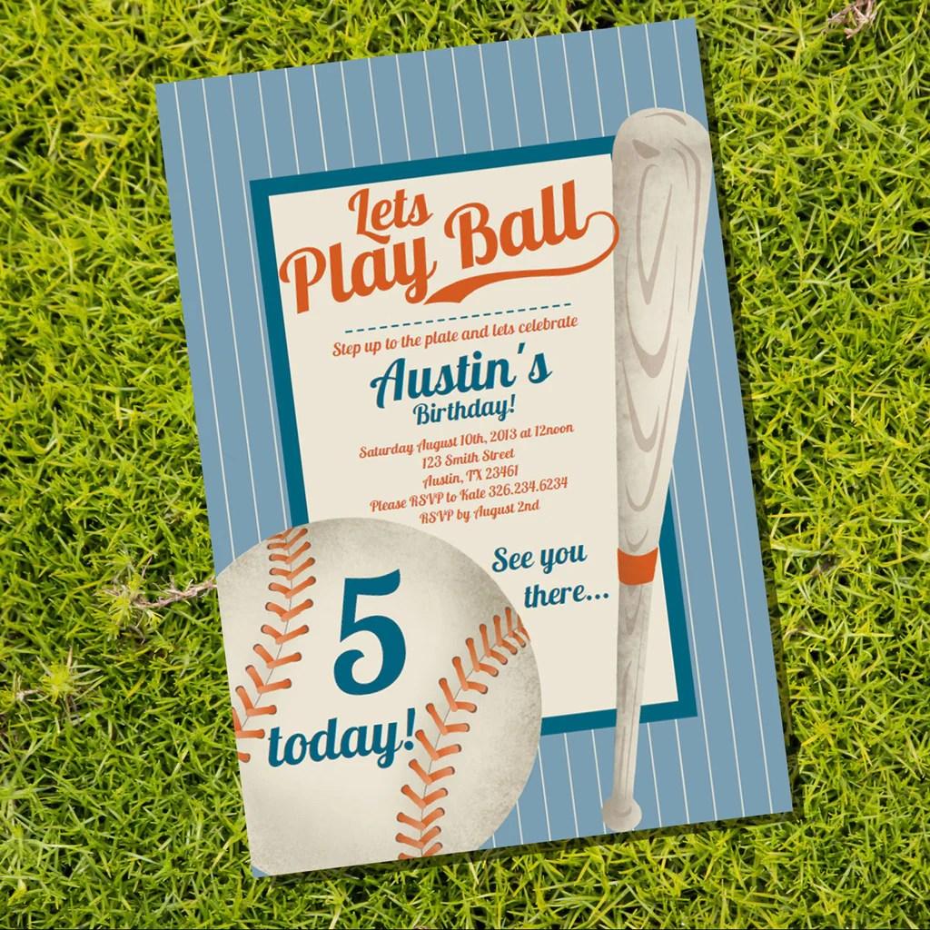 baseball party invitation vintage baseball birthday party invitation sunshine parties