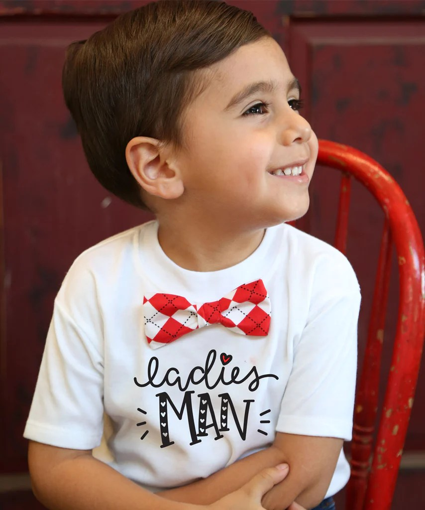 Valentines Day Outfit Toddler Boy Ladies Man With Argyle