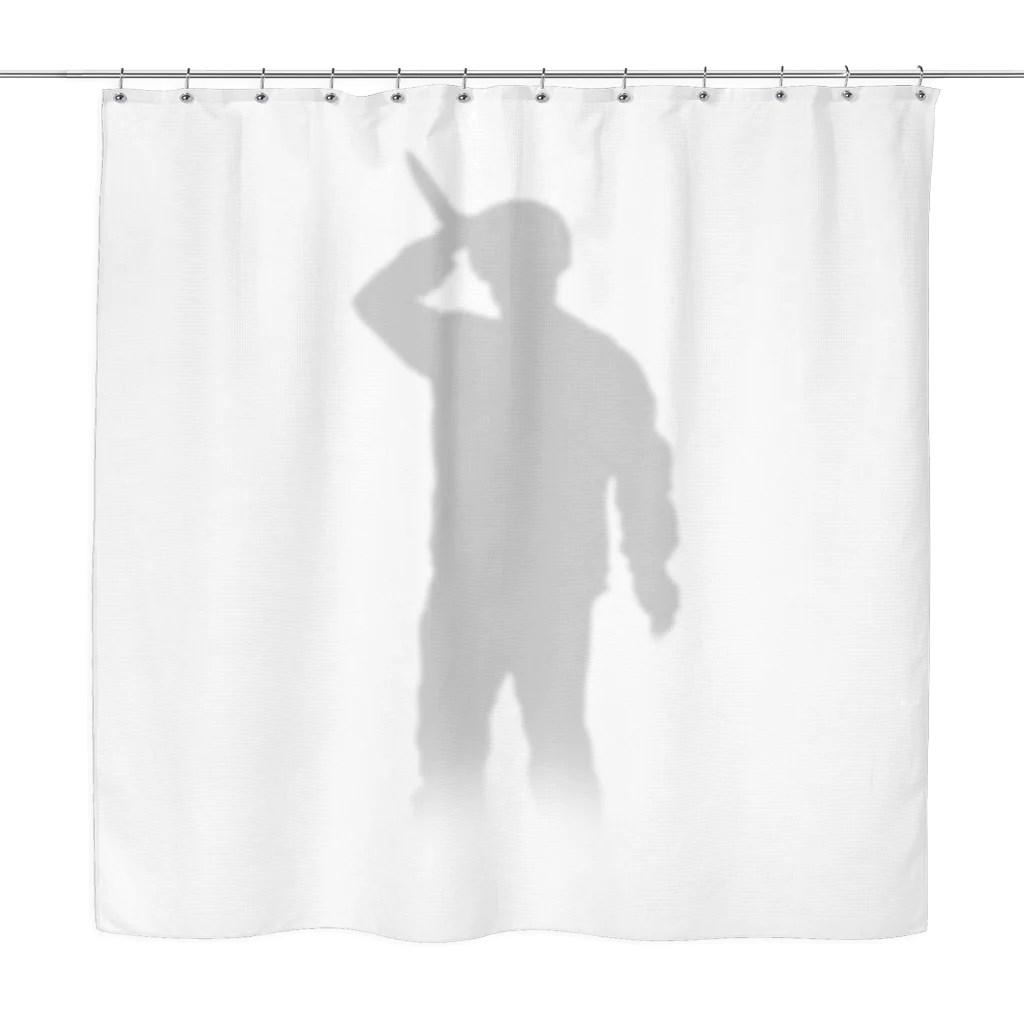 psycho shower curtain