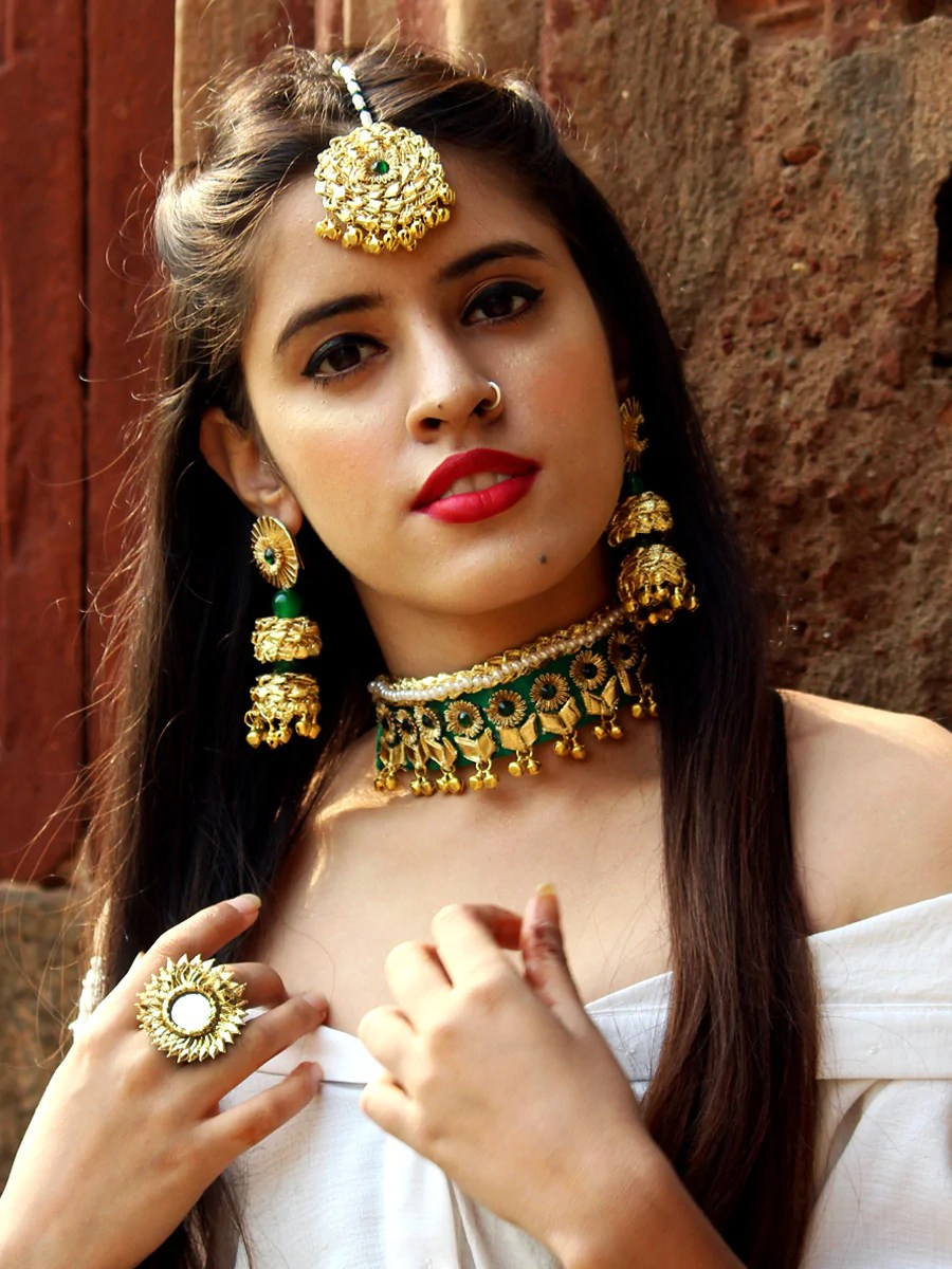 Asin Gota-patti Jewellery Set – Krafted with Happiness