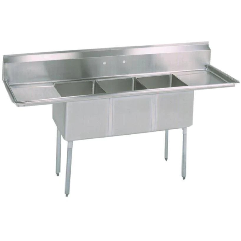 stortec brand new 3 compartment sink wit drain board s1832 672016